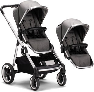 Beemoo Twin Travel+ 2020 Geschwisterwagen, Dark Grey
